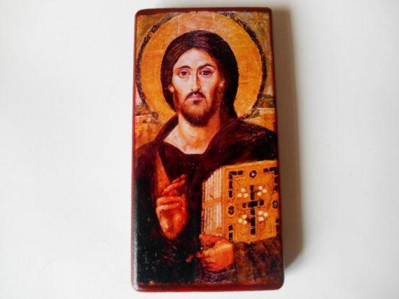Byzantijnse pictogram van Jezus Christus Pantocrator