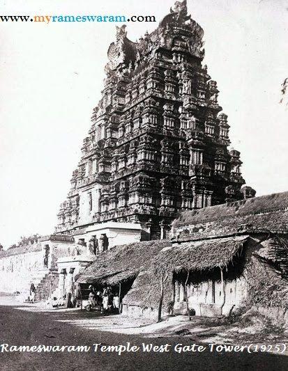Rameswaram, Ramanathaswamy Temple ,West Gopuram -1925