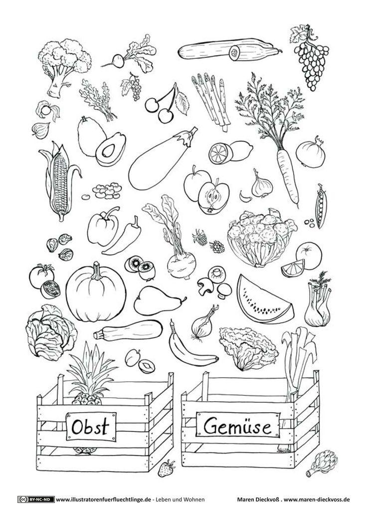 Download als PDF:Leben und Wohnen – Obst Gemüse Ratespiel – Dieckvoß