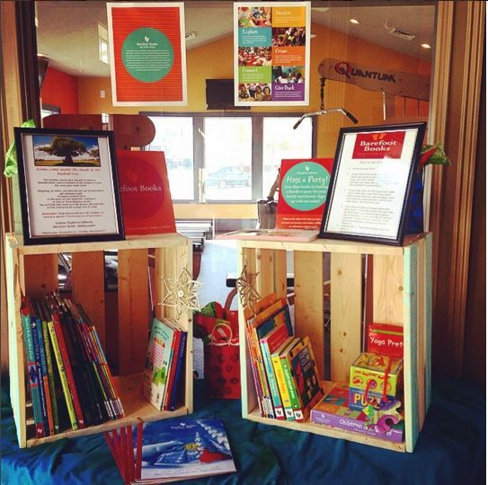 Barefoot Books Ambassador Sophie's handmade book display!