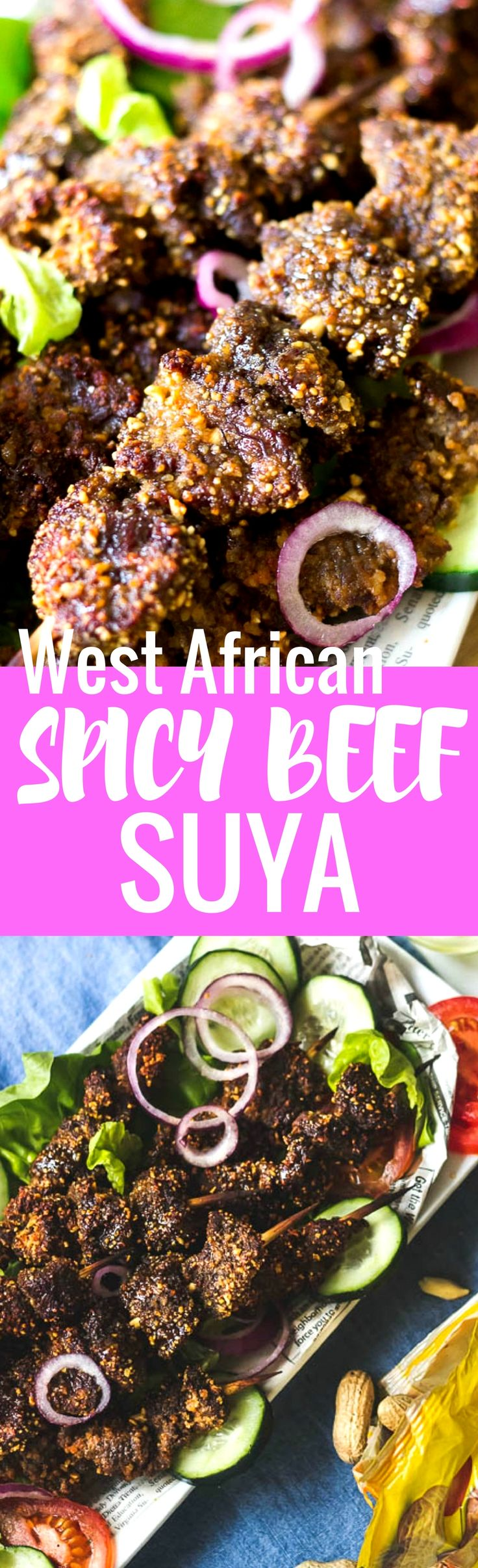 15 lovely minutes in the oven. That's all the time you need to make this mouth watering Beef Suya, A West African spicy street food kebab with a nutty, seasoning blend. #beefsuya #kebabs #kabobs