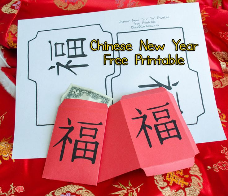 Free Chinese New Year Fu Red Envelope Printable Chinese