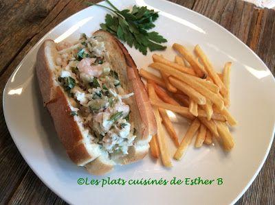 Les plats cuisinés de Esther B: Guédilles aux crevettes et au céleri rémoulade