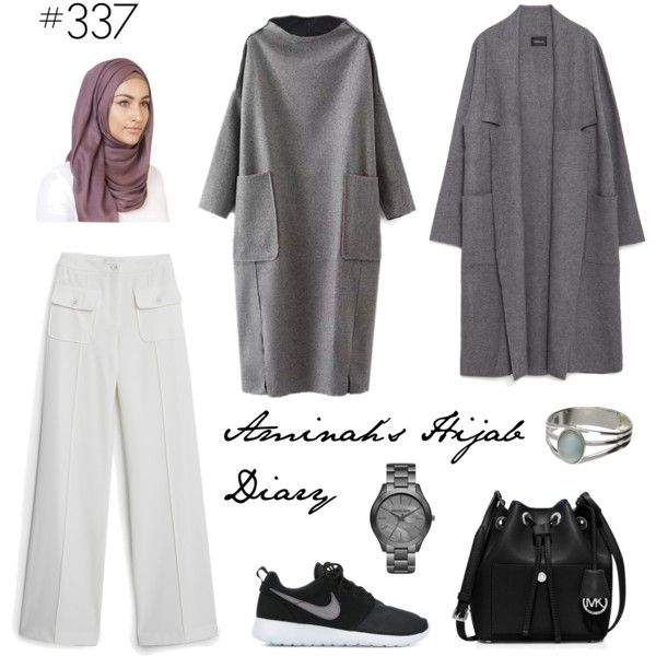 #337 Nothing Less by aminahs-hijab-diary on Polyvore featuring polyvore, fashion, style, Zara, MANGO, NIKE, MICHAEL Michael Kors and clothing