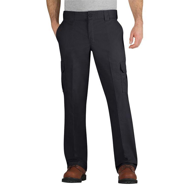 Men's Dickies Regular-Fit Flex Fabric Cargo Pants, Size: 38X34, Black