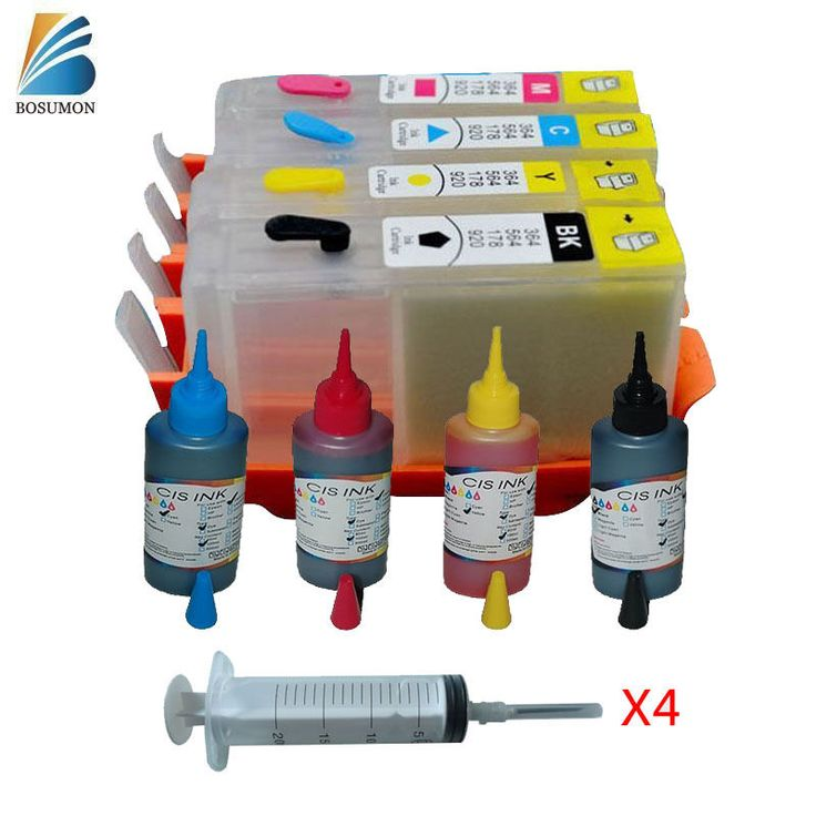 For HP655 Empty Refillable ink cartridge & 100ML Ink Refill 3525 4615 4625 5525  #BOSUMON