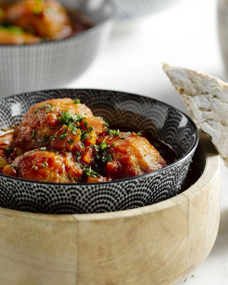 Balletjes van kippengehakt in tomatensaus - Klassieker met kippengehakt voor minder calorieën #15gram