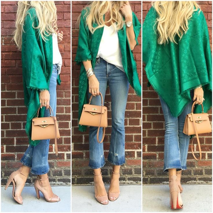 Louis Vuitton scarf, Rag and Bone jeans, Hermes Kelly bag and Louboutin shoes for fall style.