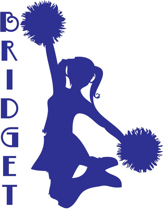 79 best silhouettes sport silhouettes images on pinterest for Cheerleading arts and crafts