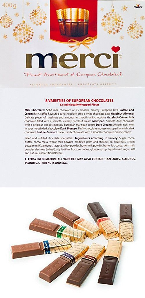 Merci Finest Ortment Of European Chocolates 400grams 14 1 Ounces 32 Pieces Individually Wred Fine