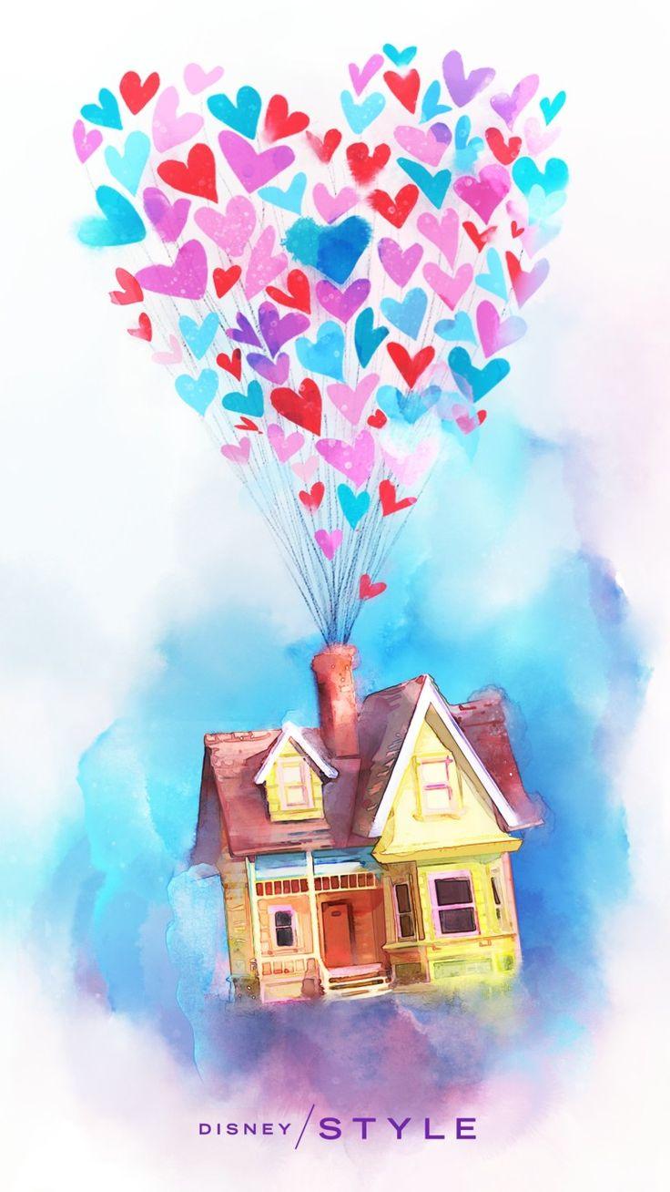 Disney and Disney•Pixar Valentine's Day Phone Wallpapers