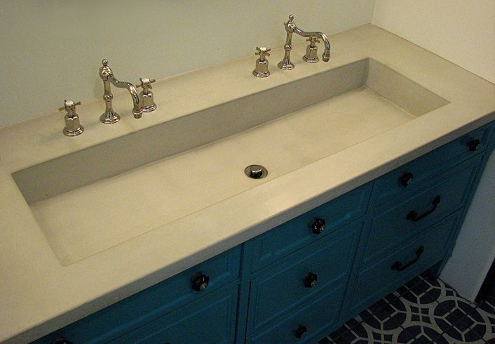 Vintage Trough Sink : Concrete Trough Sink in Antique White {{my hearth&home ideas}} Pi ...