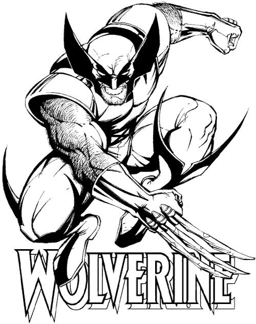 Pictures Wolverine Coloring For Kids | Cartoon coloring ...