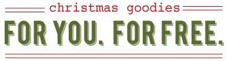 christmas goodies week: gift tags