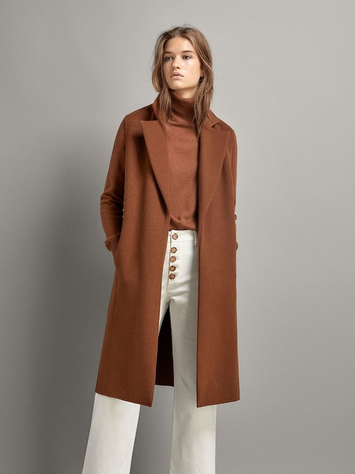 Chaleco Largo Marron Mujer Massimo Dutti Espana Waistcoat Woman Brown Waistcoat Women Trench Coats Women