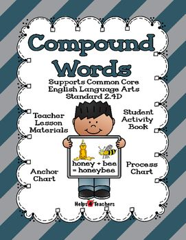 Packet Includes: One 11 X 8 Compound Words Anchor Chart One 11 X 8 Compound Words Process Chart One 20 X 16 Compound Word Process and Anchor Chart(could be printed out at Costco or any other place that offers larger photo prints) Compound Words student book Student picture and word cards for student book Compound Words Lesson picture and word cardsProcess Charts help make thinking visible.