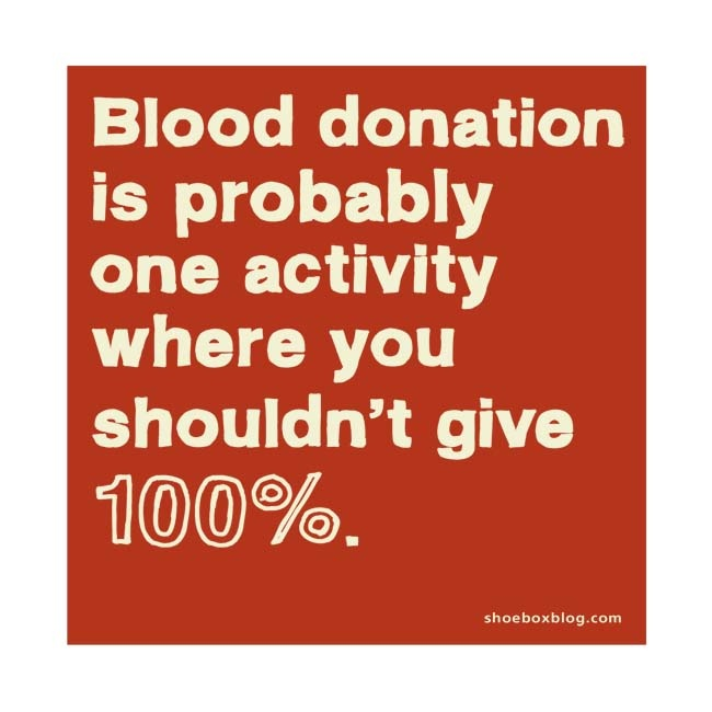 Donation Quotes: And It Doesnt Hurt That Much And You