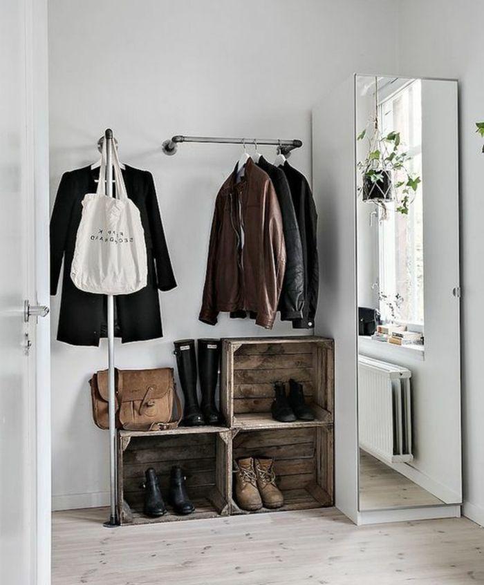 Les 25 meilleures id es de la cat gorie miroirs rustiques for Miroir patere entree