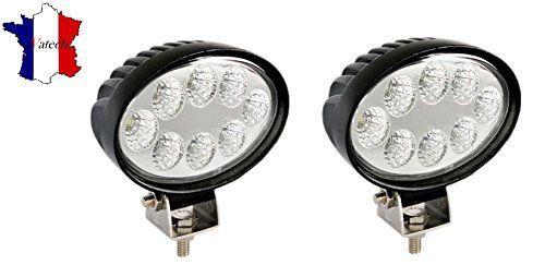 2 X 24W 12V 24V LED PHARE LAMPE OVALE DE TRAVAIL LAMPE POUR VEHICULE DE CONSTRUCTION TRACTEUR CAMION REMORQUE LAMPE POUR SUV JEEP BATEAU…