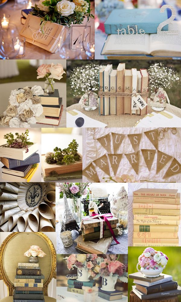 Paper Book Wedding - some cute centrepieces