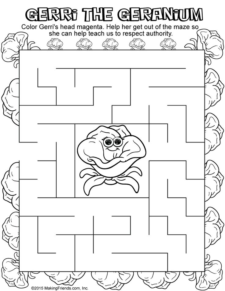 46 best daisy girl scout pink petal respect authority for Gerri the geranium coloring page