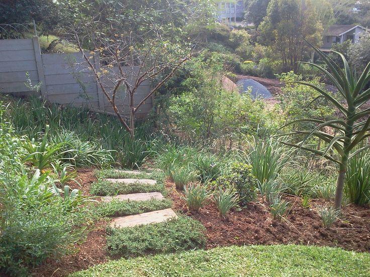 steps into garden