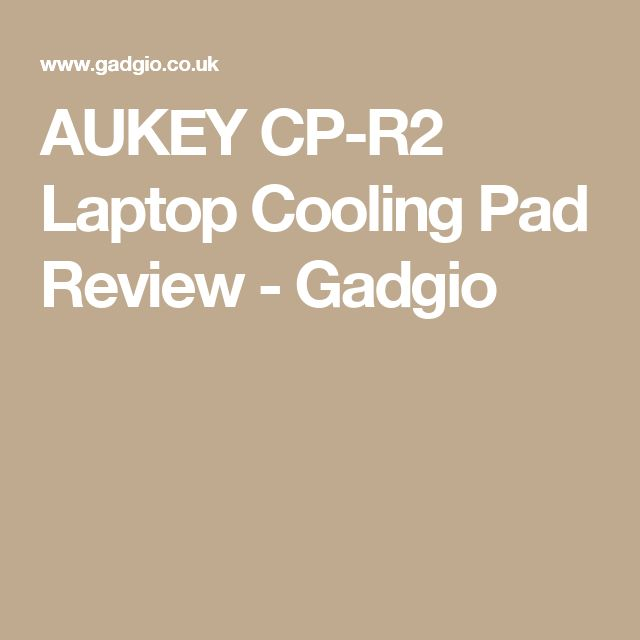 AUKEY CP-R2 Laptop Cooling Pad Review - Gadgio