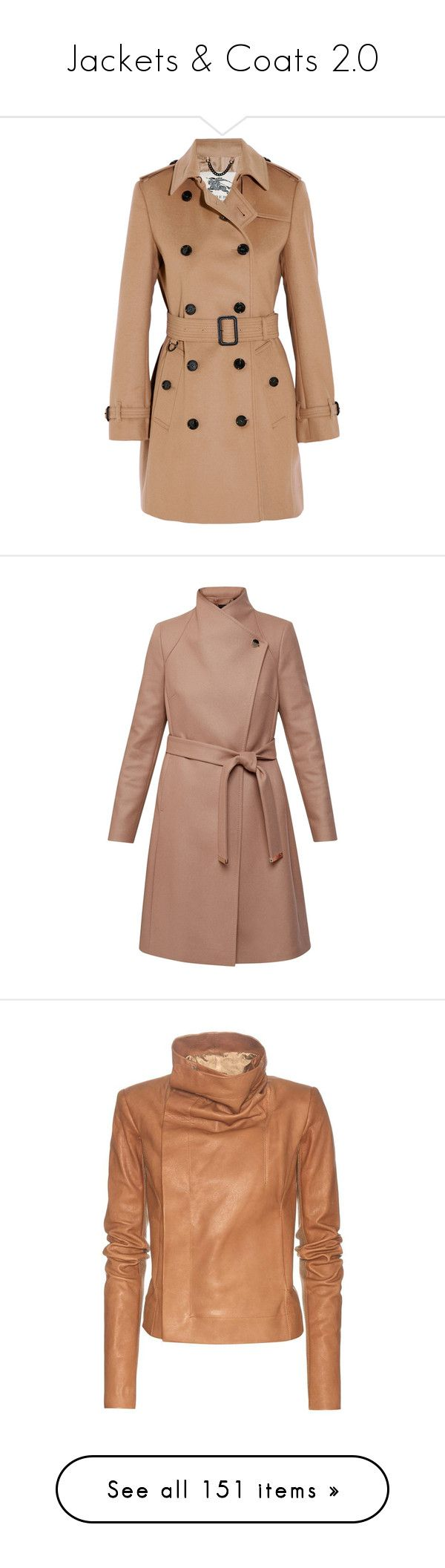"""""""Jackets & Coats 2.0"""" by onecrystal ❤ liked on Polyvore featuring outerwear, coats, jackets, burberry, trench, double breasted military coat, woolen trench coat, trench coat, double breasted coat and military style coat"""