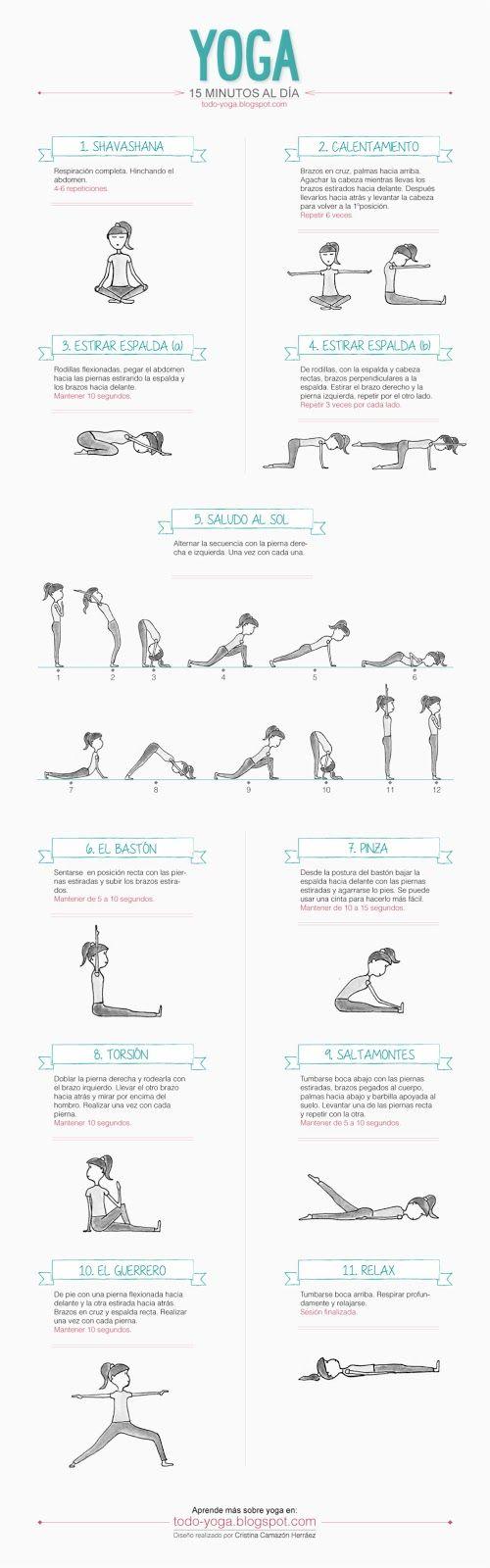 Todo Yoga: Infografia 15 minutos de Yoga al día