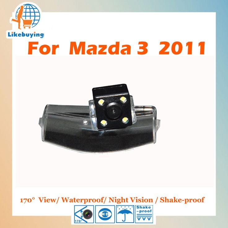 Parking Camera / Reverse Camera / 1/4 Color CCD HD Rear View Camera For MAZDA 3 2011 Night Vision / Waterproof / LED Lights
