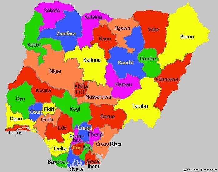 """Résultat de recherche d'images pour """"nigeria,federation, maps,"""""""