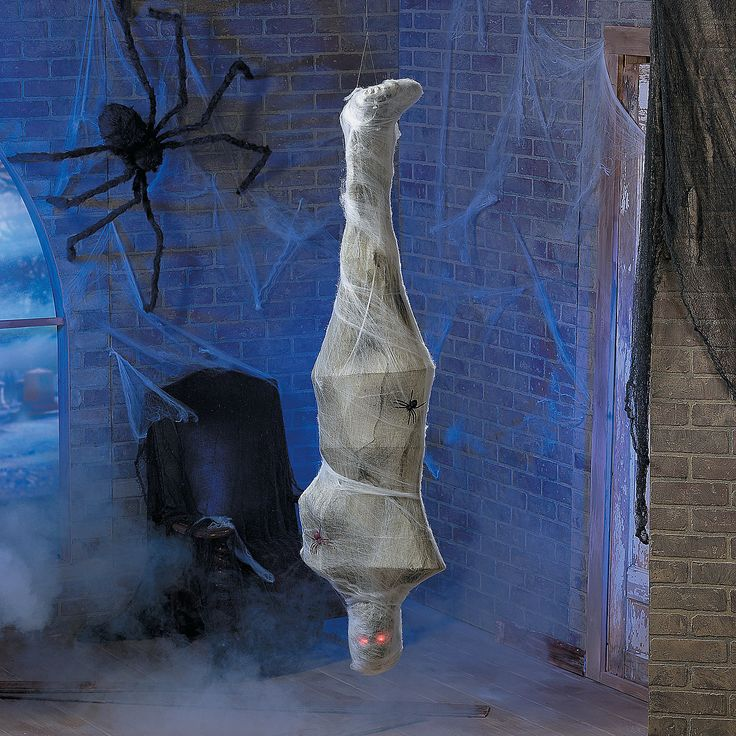 hanging cobweb mummy