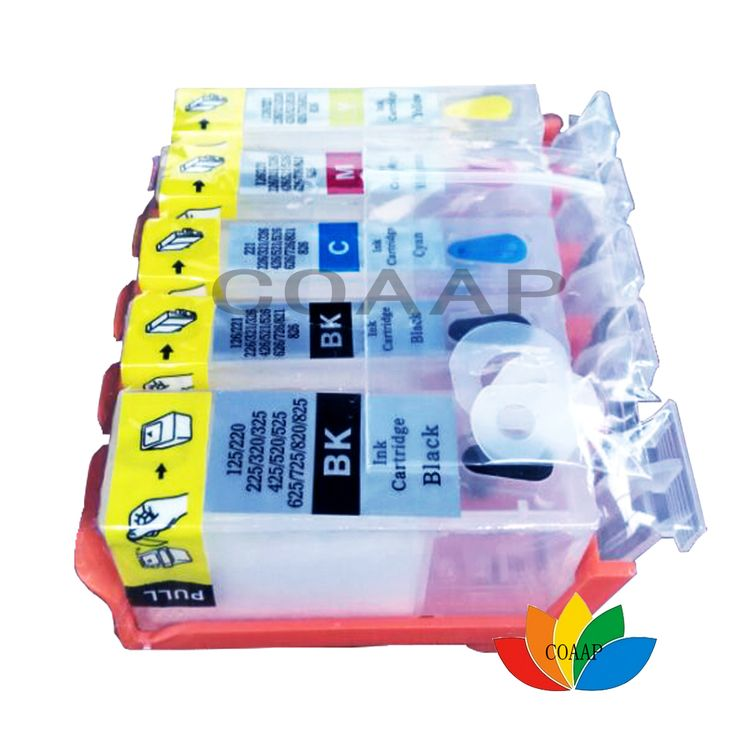 5PK Refillable PIG525 CIL526 Ink Cartridges Canon PIG-525 CIL-526 PIG 525 CLI 526 For Pixma MG8150 MG6150 MG5250 MG5150 #Affiliate