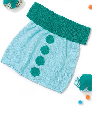 Book Baby 72 Spring / Summer | 37: Baby Dress | Emerald / Very light blue
