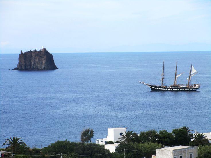 U ostrova Stromboli - Itálie