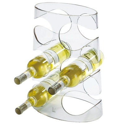 and Clear Acrylic Grapevine Wine Rack.
