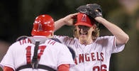 Jered Weaver throws no-hitter. AND a SWEEP against the Twins.  WAY TO GO WEAVER!!!  We needed that boost.  WAY TO GO!