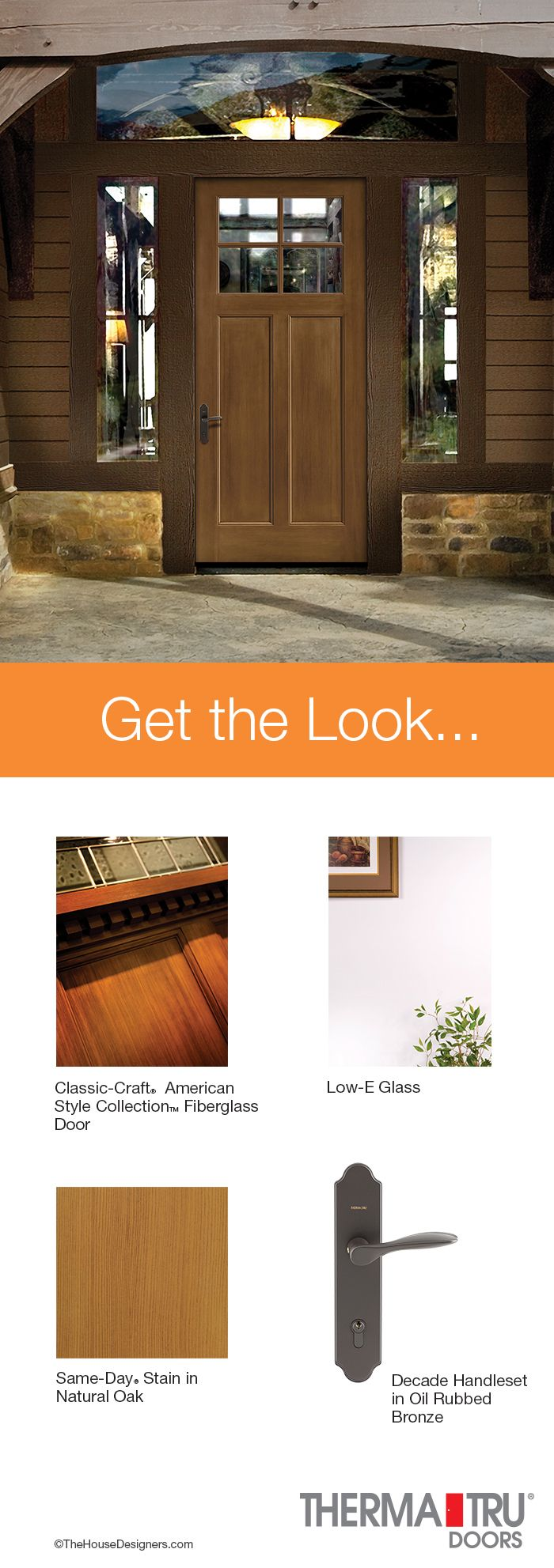 21 best get the look images on pinterest entrance for Energy efficient entry doors