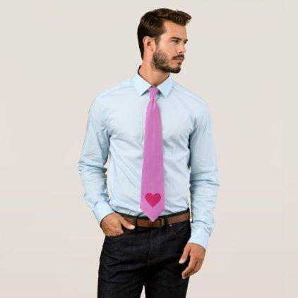 Red Heart Valentine custom tie - marriage gifts diy ideas custom