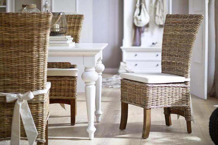 Country Koksbord : White Mahogany Furniture  HandMade Kubu Rattan Chairs  Salsa Dining