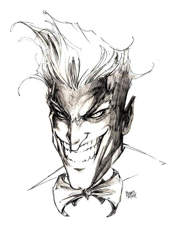 The Joker Sketch - Michael Turner