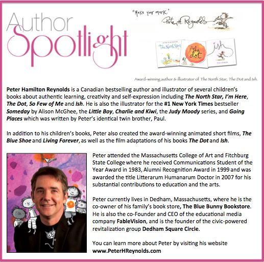 This week's #AuthorSpotlight is #PeterHReynolds a #Canadian #NewYorkTimes #bestseller #childrensbooks #illustrator