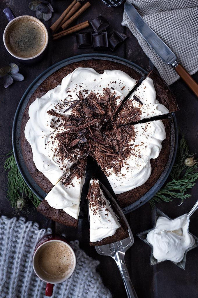 These White Russian brownies are for serious chocaholics only! Serve topped with Kahlua-spiked whipped cream and a cup of strong coffee. #brownies #chocolate #coffee #dessertsrecipes #desserts