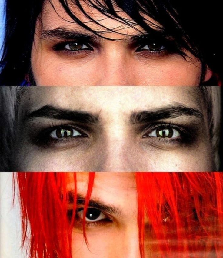 Gerard Way (My Chemical Romance) BLACK HAIR, WHITE HAIR, RED HAIR, AND HE STILL LOOKS BEAUTIFUL! C;