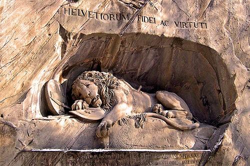 Switzerland-Lucerne Lion monument by denylf, via Flickr