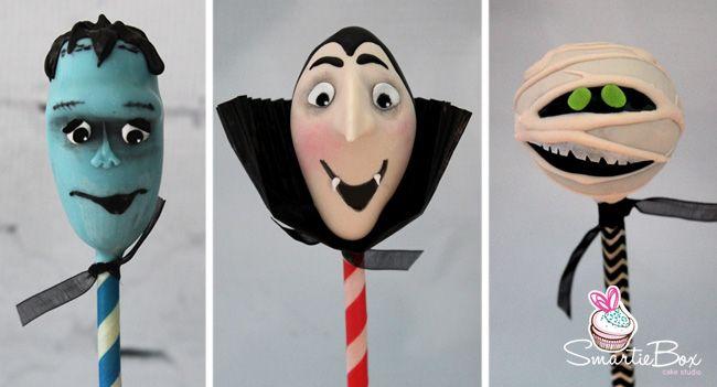 Hotel Transylvania Cake Pops - Frankenstein, Dracula, mummy -SmartieBox Cake Studio