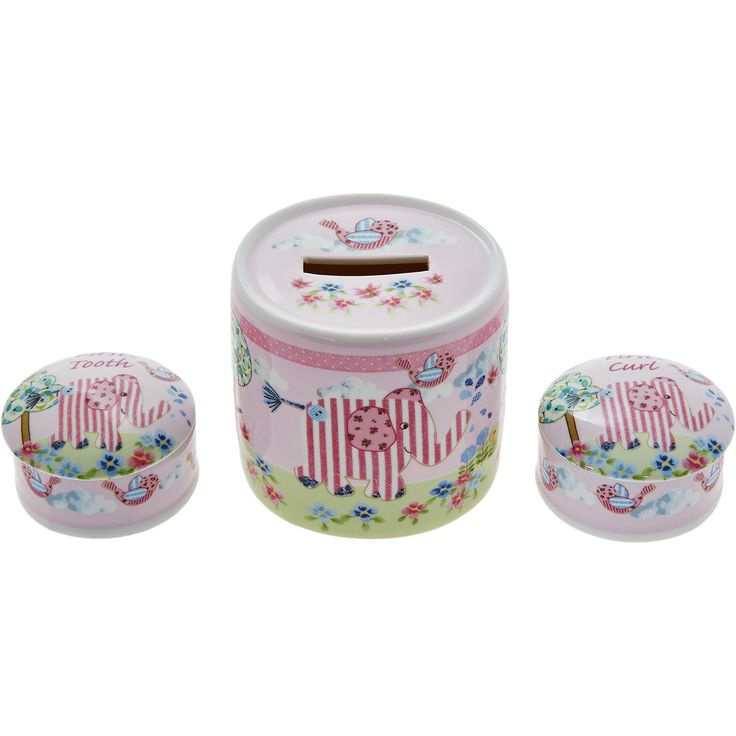 Decorative Boxes Tk Maxx : Quot cavania first tooth curl money box set tk