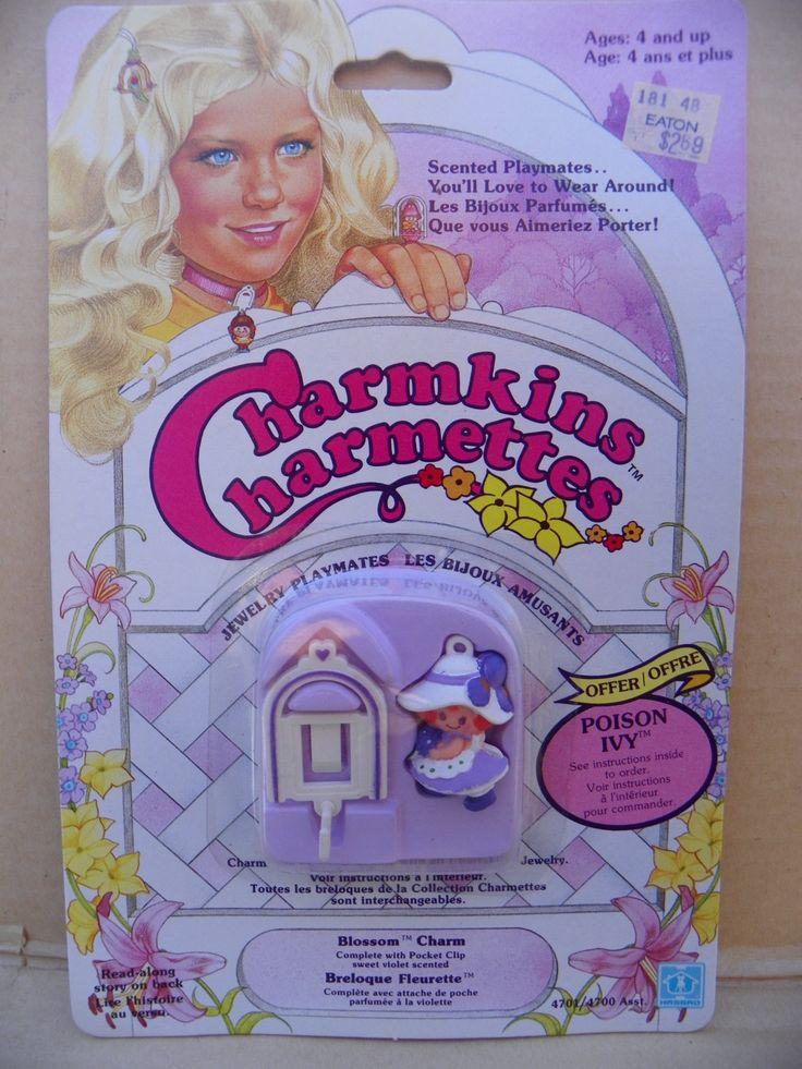Vintage Charmkins Blossom Charm Pocket Clip , 1983 Hasbro Charmkins Blossom Pocket Clip , Charmkins Scented Jewelry Pocket Clip Charm NRFB by ShersBears on Etsy