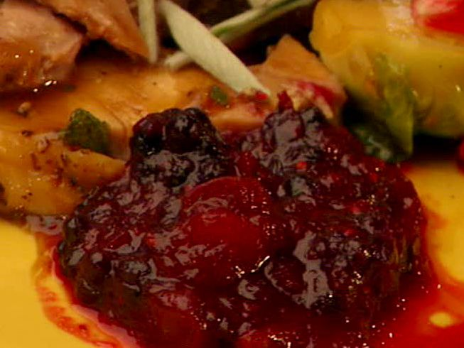 Get this all-star, easy-to-follow Food Network Cranberry-Blackberry Relish recipe from Bobby Flay.