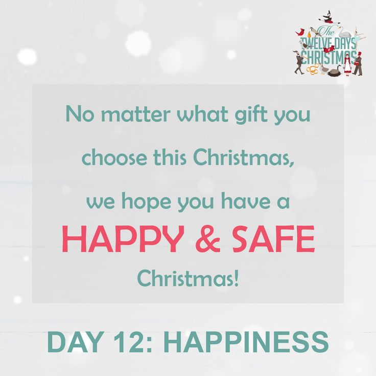 DAY 12: HAPPINESS. No matter what gift you choose this Christmas, we hope you have a HAPPY & SAFE festive season.